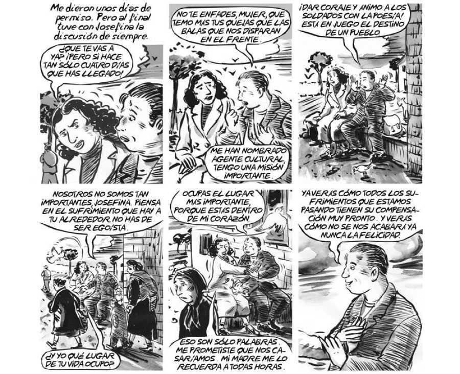 Viñetas de 'La voz que no cesa'