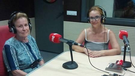 Carmen Pérez, alumna de Ceper, con Ana García desde Rne Sevilla
