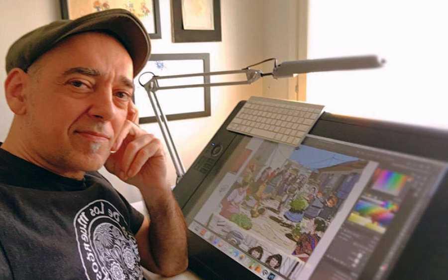 El dibujante Miguel Francisco