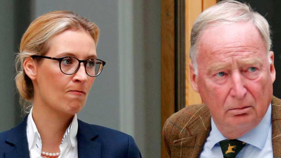 Alice Weidel y Alexander Gauland líderes de Alternativa para Alemania
