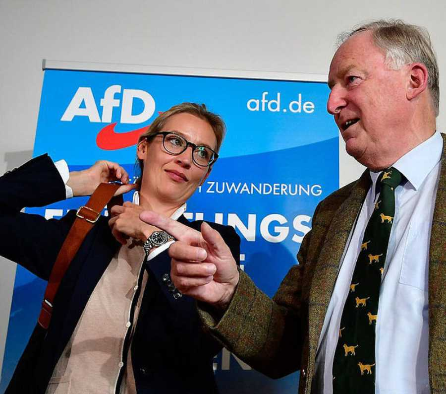 Alice Weidel y Alexander Gauland, cabezas de cartel de Alternative fuer Deutschland (Alternativa para Alemania, AfD).