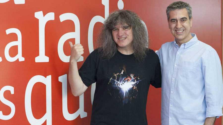Mariano Minuesa y Arturo Martín en la Casa de la Radio