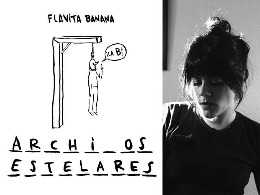 Portada de 'Archivos estelares' y su autora, Flavita Banana