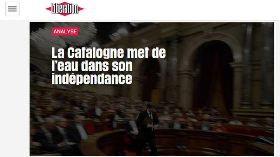 Libération indica que la independencia se ha quedado aguada