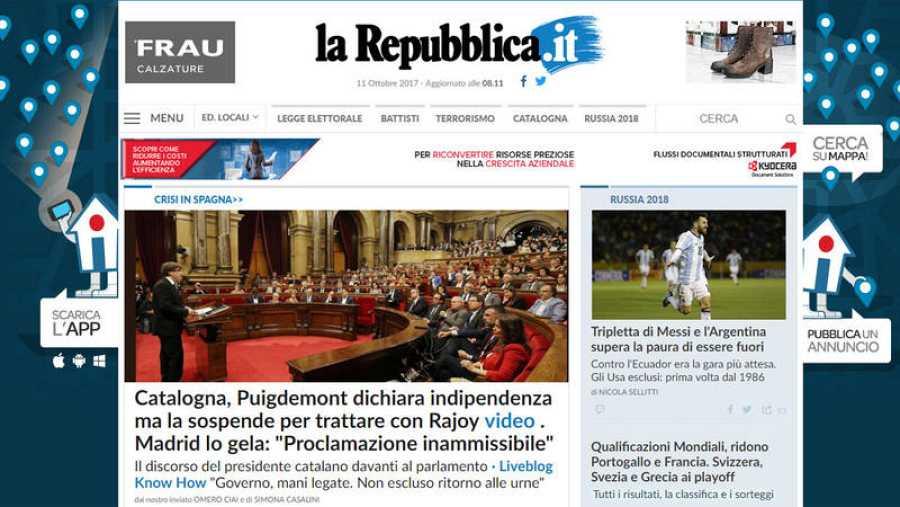 La Repubblica considera la proclamación de independencia
