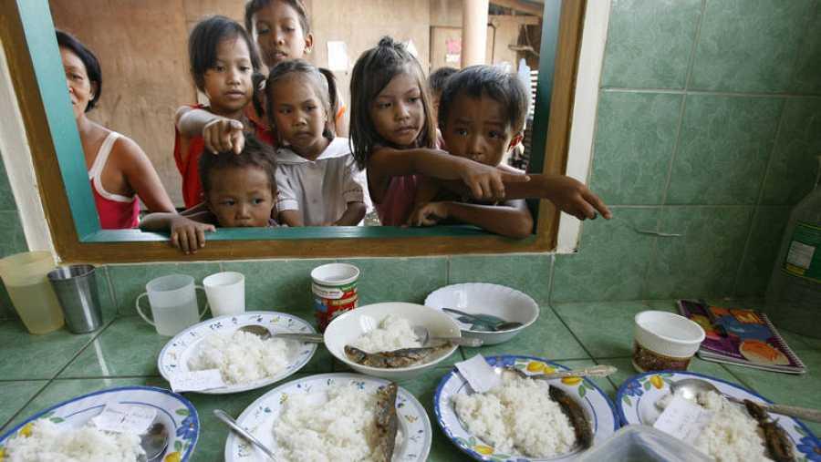 Reparto desigual de los alimentos en distintos países