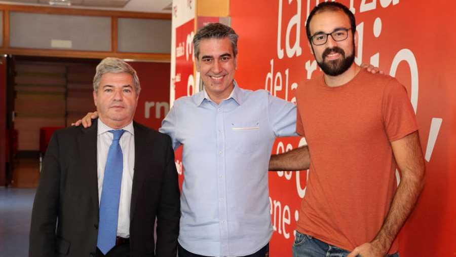 Fernando Burgaz, Arturo Martín y Aitor Sánchez, en Rne