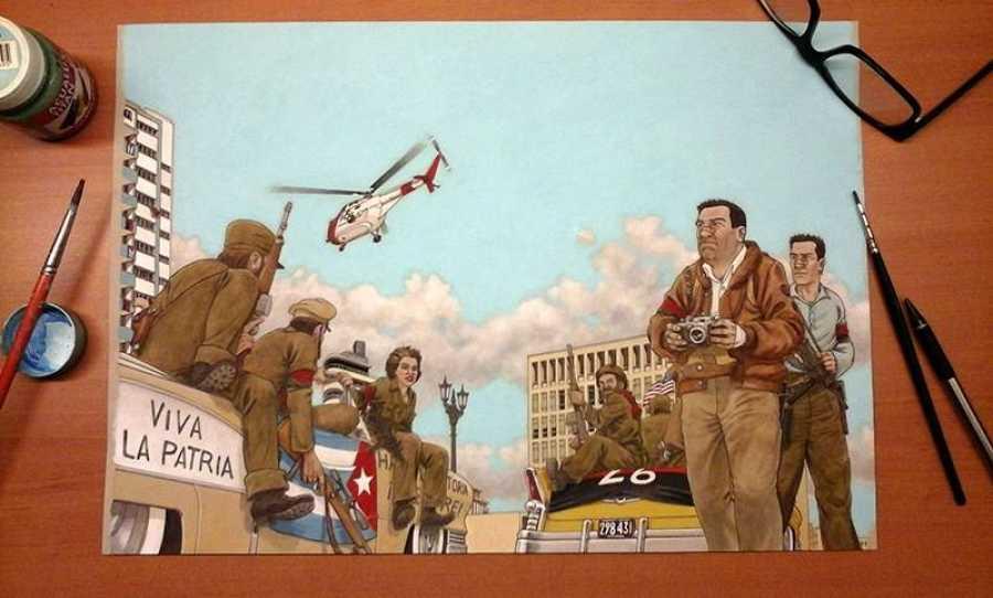Ilustración de 'Arde Cuba'