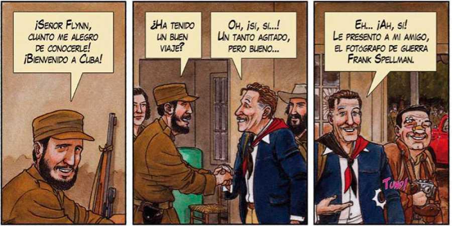 El encuentro entre Fidel Castro y Errol Flynn