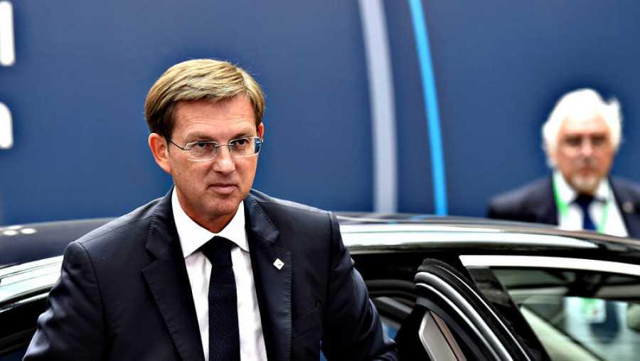 El primer ministro esloveno, Miro Cerar, a su llegada a la cumbre