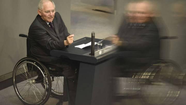 Wolfgang Schäuble, durante su defensa en el Bundestag de una nueva ampliación del rescate de Grecia