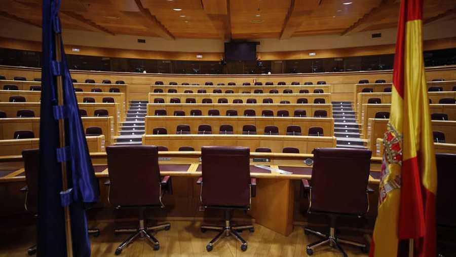 Vista de la Sala Europa del Senado, donde se constituirá la comisión del 155.