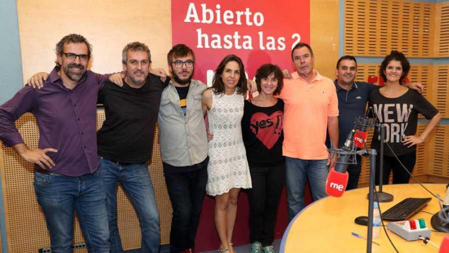 Pons, con Paloma Arranz y su equipo