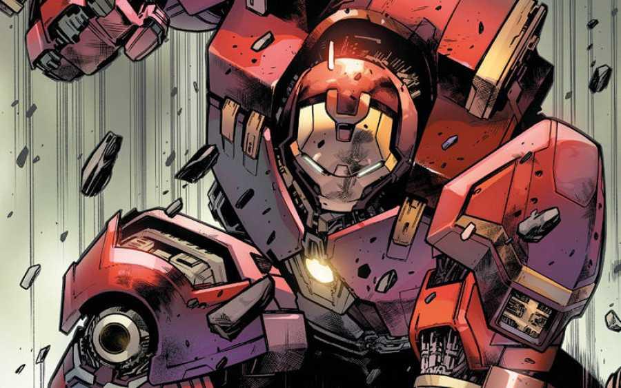 Iron Man dibujado por Pepe Larraz