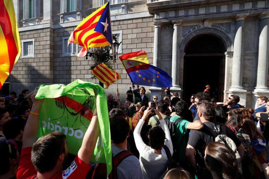 Álvaro de Marichalar ha sido detenido por los Mossos por resistencia a la autoridad cuando se le ha requerido por causar un riesgo de orden público en medio de una concentración independentista