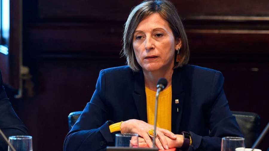 Carme Forcadell, presidenta de la Diputación Permanente del Parlament