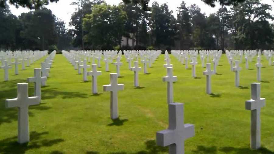 Fotografía de un cementerio
