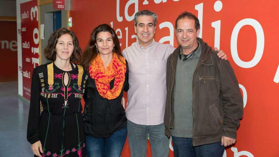 Silvia Fernández, Silvia Melero, Arturo Martín y Fernando Marín en RNE
