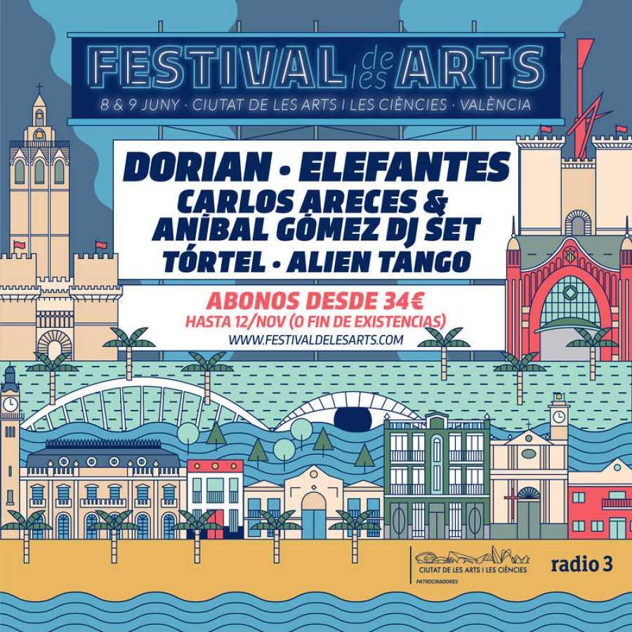 Cartel con las primeras confirmaciones del  Festival de les Arts vol. 4.