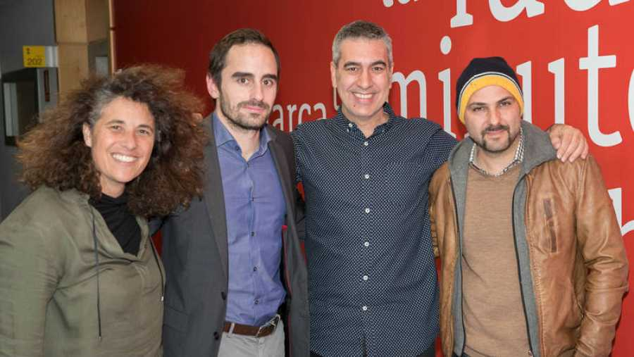 De izquierda a derecha: Estíbaliz Giner, Fernando Carruesco, Arturo Martín y Lucas Figueroa