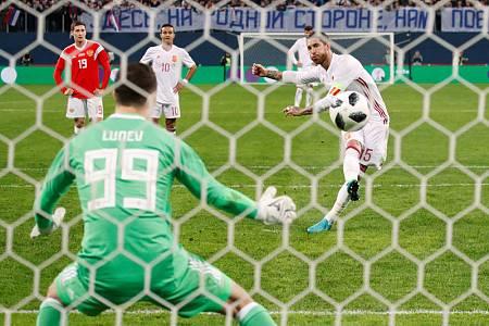 Ramos ha anotado dos de los tres tantos de España desde el punto de penalti.