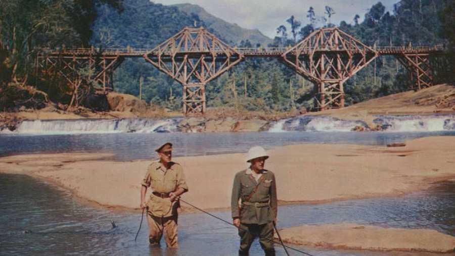 Rodaje de la película 'El puente sobre el río Kwai'