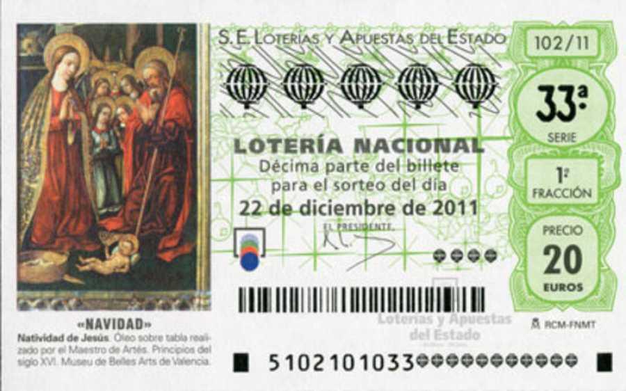 Decimo de Lotería de Navidad de 2011