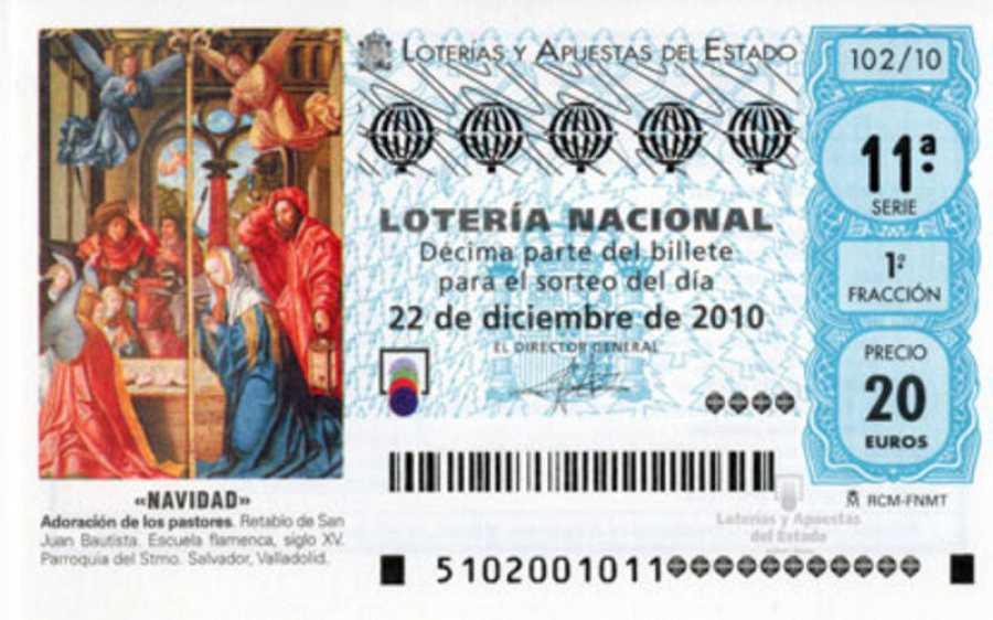 Decimo de Lotería de Navidad de 2010