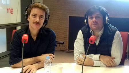 Víctor Clavijo y Fran Arráez, en los estudios de RNE.