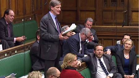 El conservador Dominic Grieve durante el debate sobre la enmienda al 'Brexit' en el Parlamento británico