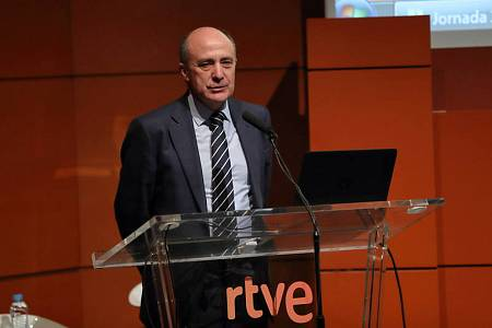 El director general corporativo de RTVE, Enrique Alejo, ha inaugurado la jornada