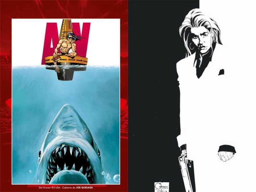 Portadas de Quesada que homenajean a 'Tiburón' y 'El precio del poder'