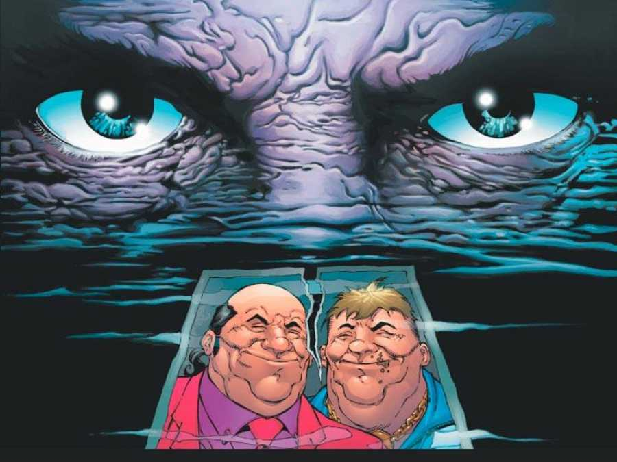 Fragmento de una portada que homenaje al cartel de 'El cabo del miedo'