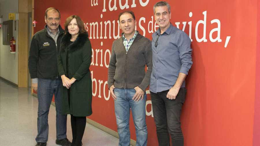 De izquierda a derecha: Rafael Flores, María Lavalle, Pablo Ojeda y Arturo Martín