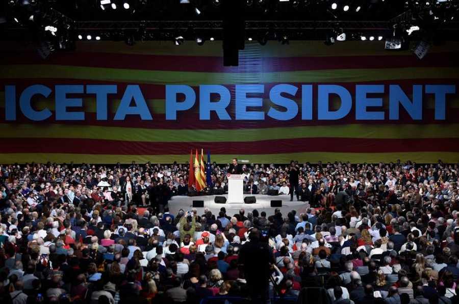 Zapatero interviene en el mitin central del PSC, en Barcelona