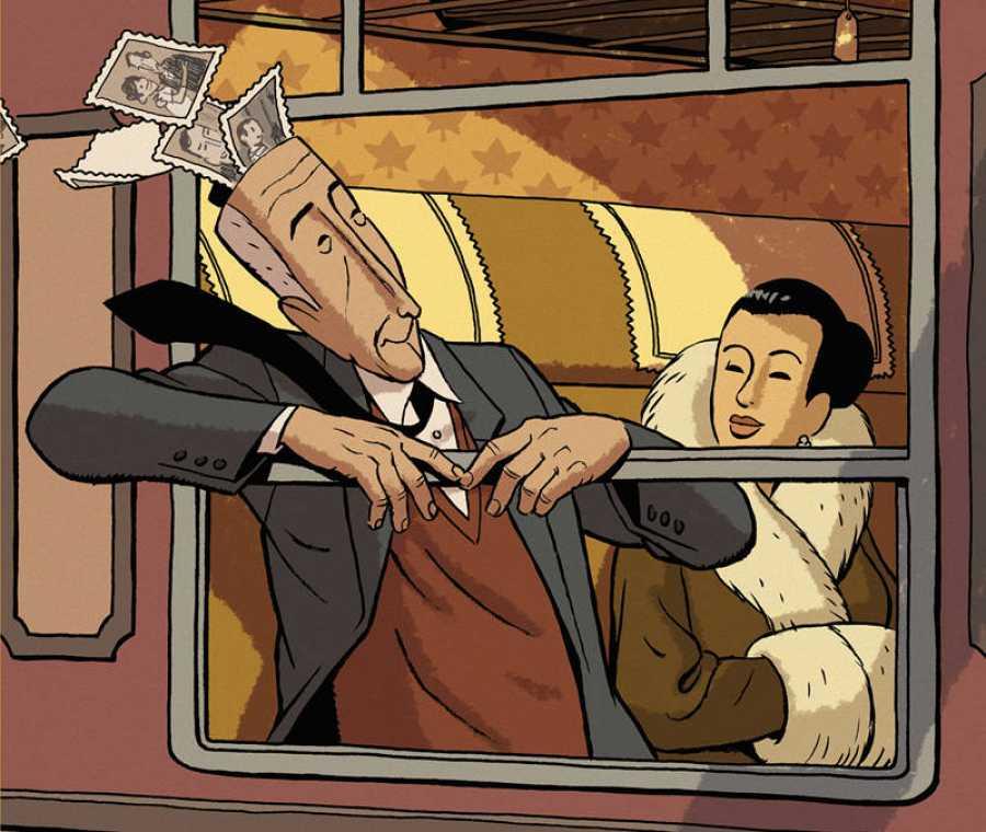 Fragmento de la portada de 'Arrugas'