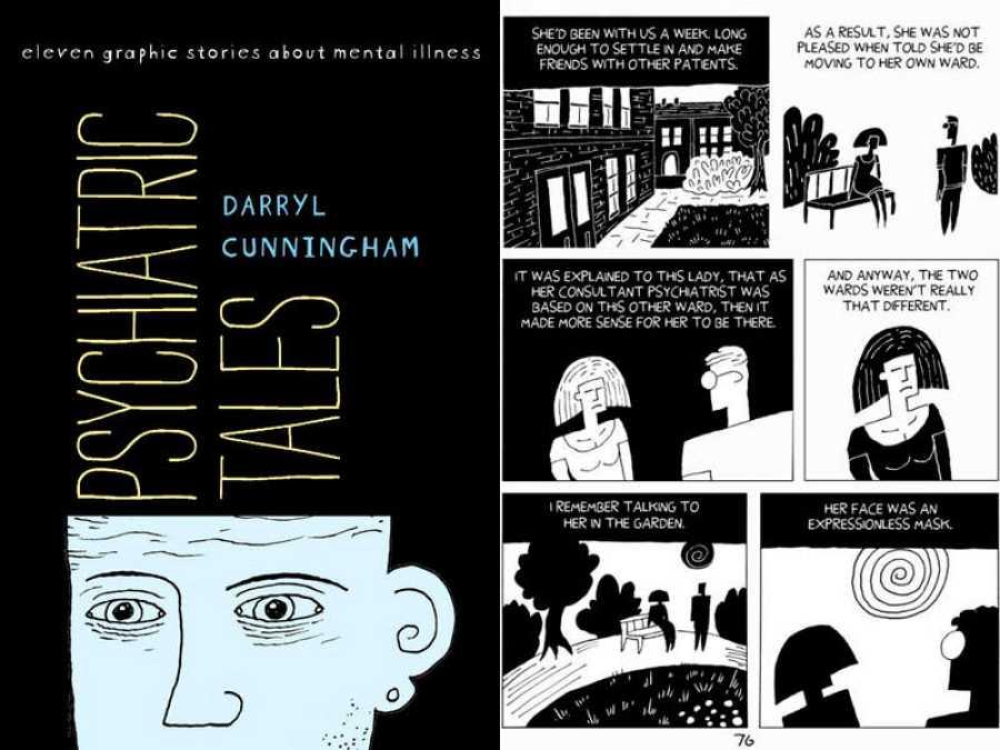 Portada y página de 'Psychiatric Tales'
