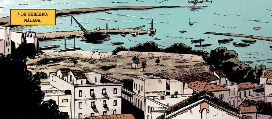 Viñeta de '1937: La toma de Málaga'