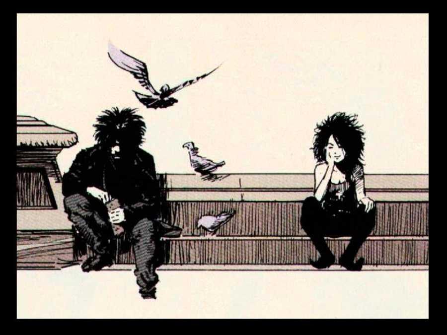 Morfeo y Muerte en una imagen de 'Sandman'