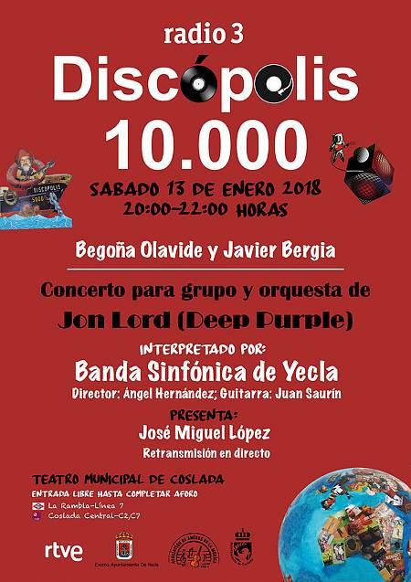 Cartel de la fiesta que prepara 'Discópolis' por sus 10.000 programas