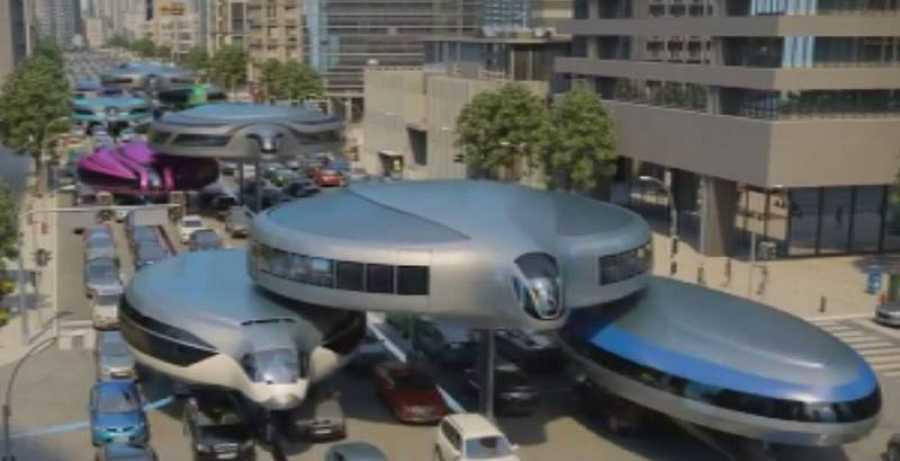 ¿Cómo será el transporte urbano del futuro?. Aquí vemos la propuesta del vídeo futurista del ingeniero e inventor ruso Semenov Dahir