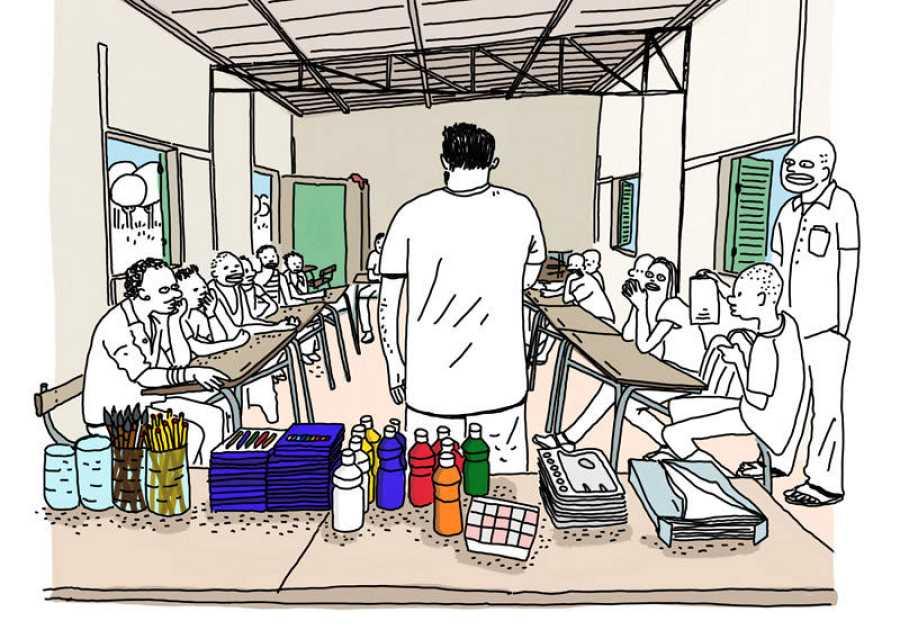 Ilustración de 'La escuela'