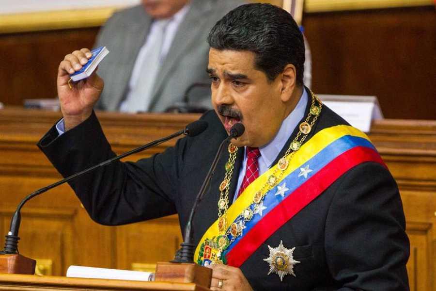 El presidente de Venezuela, Nicolás Maduro, durante su intervención ante la Asamblea Nacional Constituyente