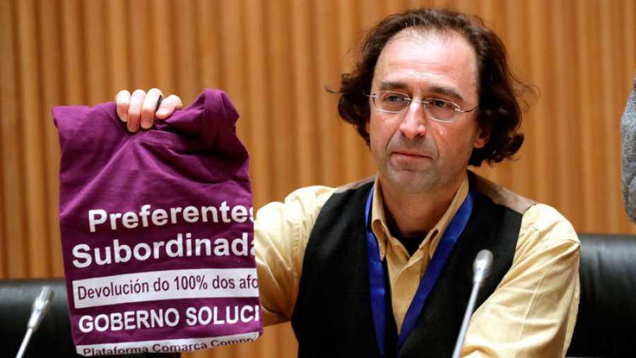 Xesús Domínguez, portavoz de la coordinadora de plataformas de afectados por las preferentes en Galicia