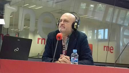 Juan Carlos Pérez de la Fuente, en un momento de la entrevista.
