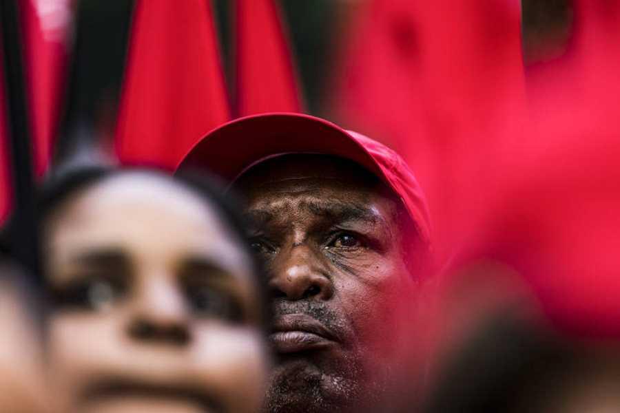 Concentración de apoyo a Lula en Sao Paulo
