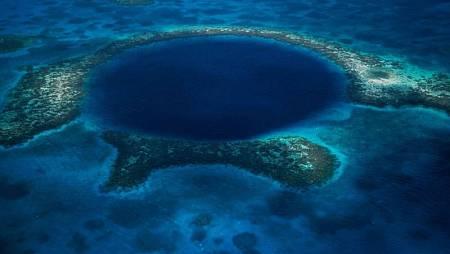Imagen aérea del Abismo de Challenger