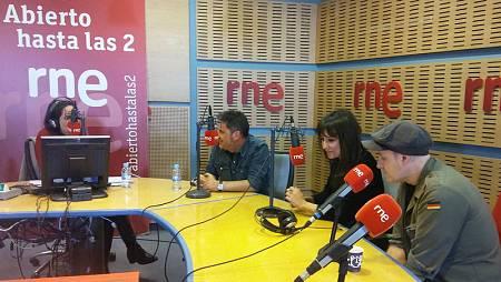 Un momento del programa, con Eva Amaral y Juan Aguirre