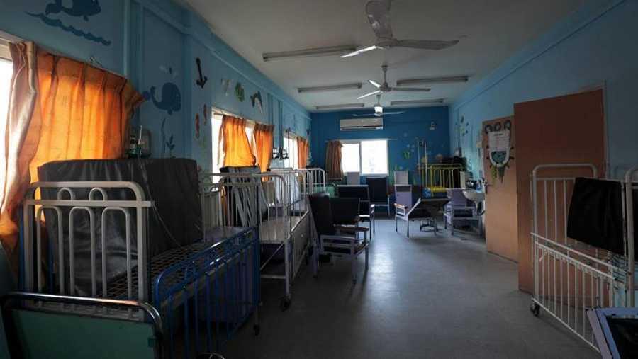 Vista del hospital Beit Hanun en Gaza, cerrado en enero