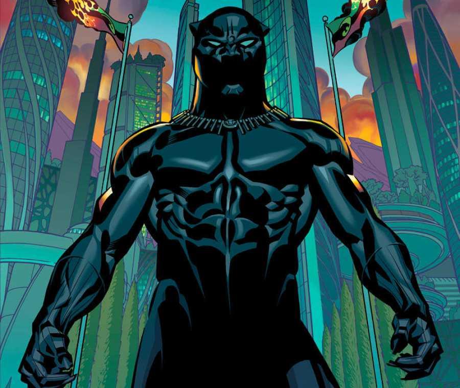 Fragmento de una portada de  Pantera Negra dela etapa de Ta-Nehisi Coates